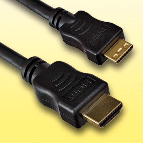 HDMI-Kabel-fuer-Fuji-Fujifilm-X-M1-Mini-C-Laenge-1-5m-vergoldet